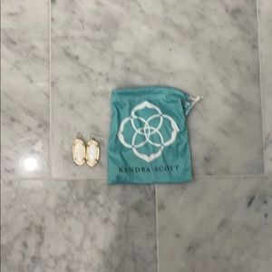Kendra Scott small white earrings